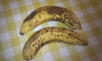 Food waste, no waste within, dalmatian bananas, over ripe bananas