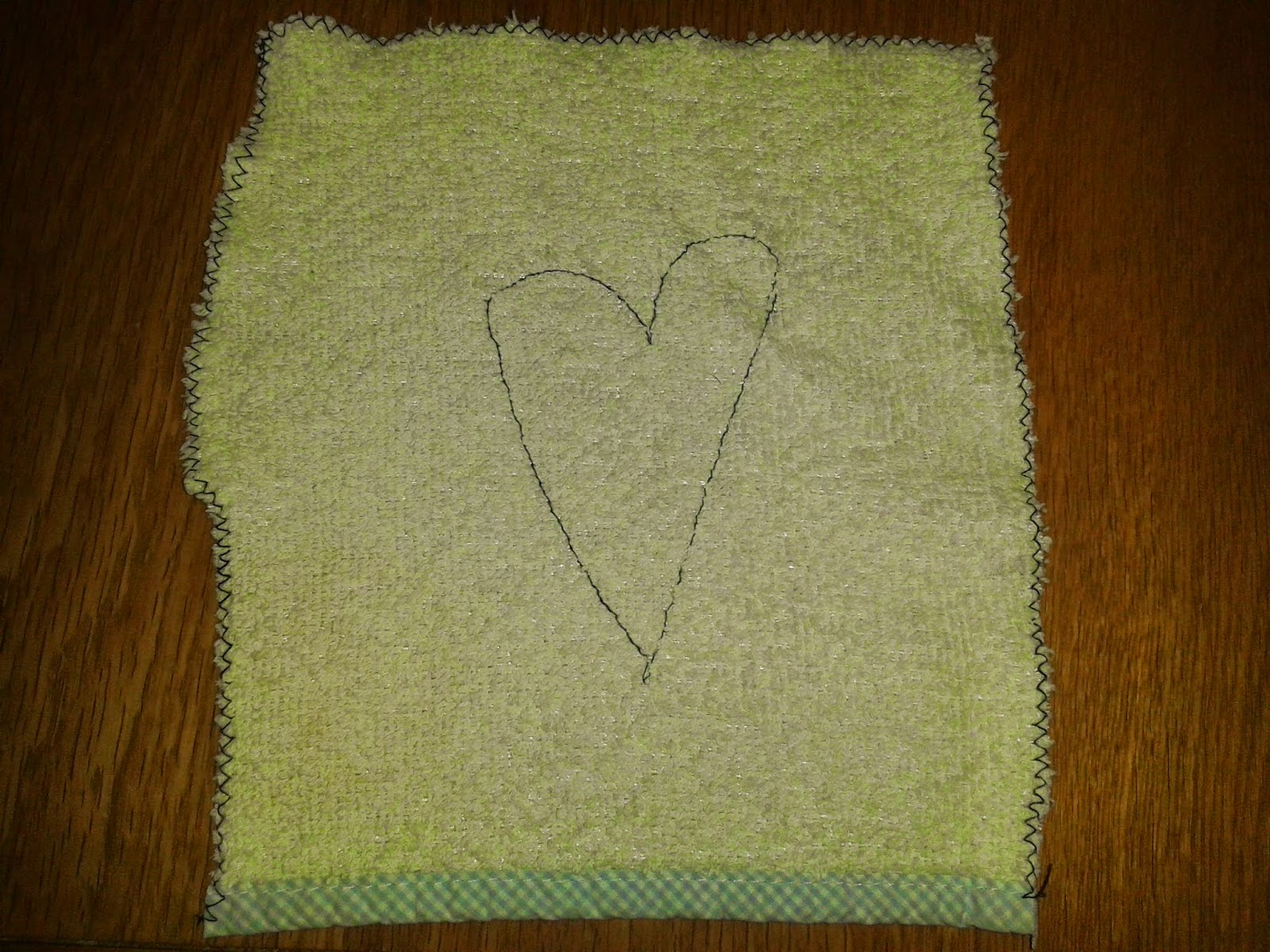 homemade cloth used as alternative to wet wipe