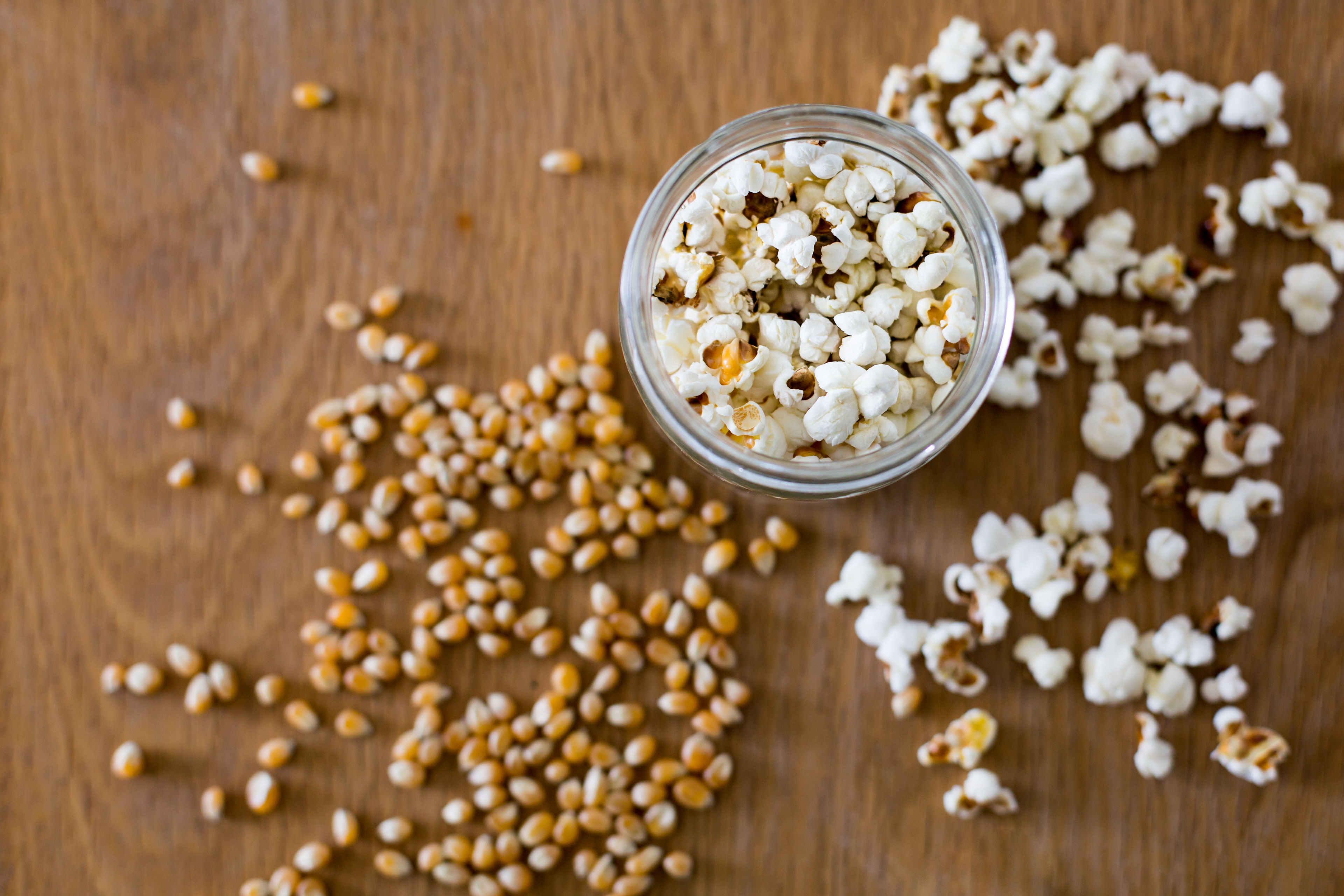 zero waste, unpackaged, popcorn, popping corn, homemade