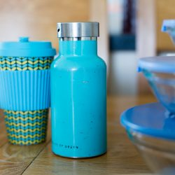 Reusable, stainless steel water bottle, reusable coffee cup