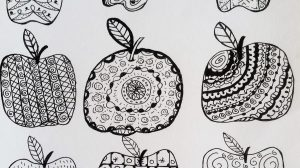 Apple, Zenart, zendoodle, reduce food waste, food, recipes, food shopping