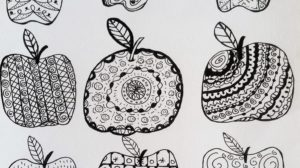 Food shopping, Apple, Zenart, zendoodle, reduce food waste, food, recipes, food shopping