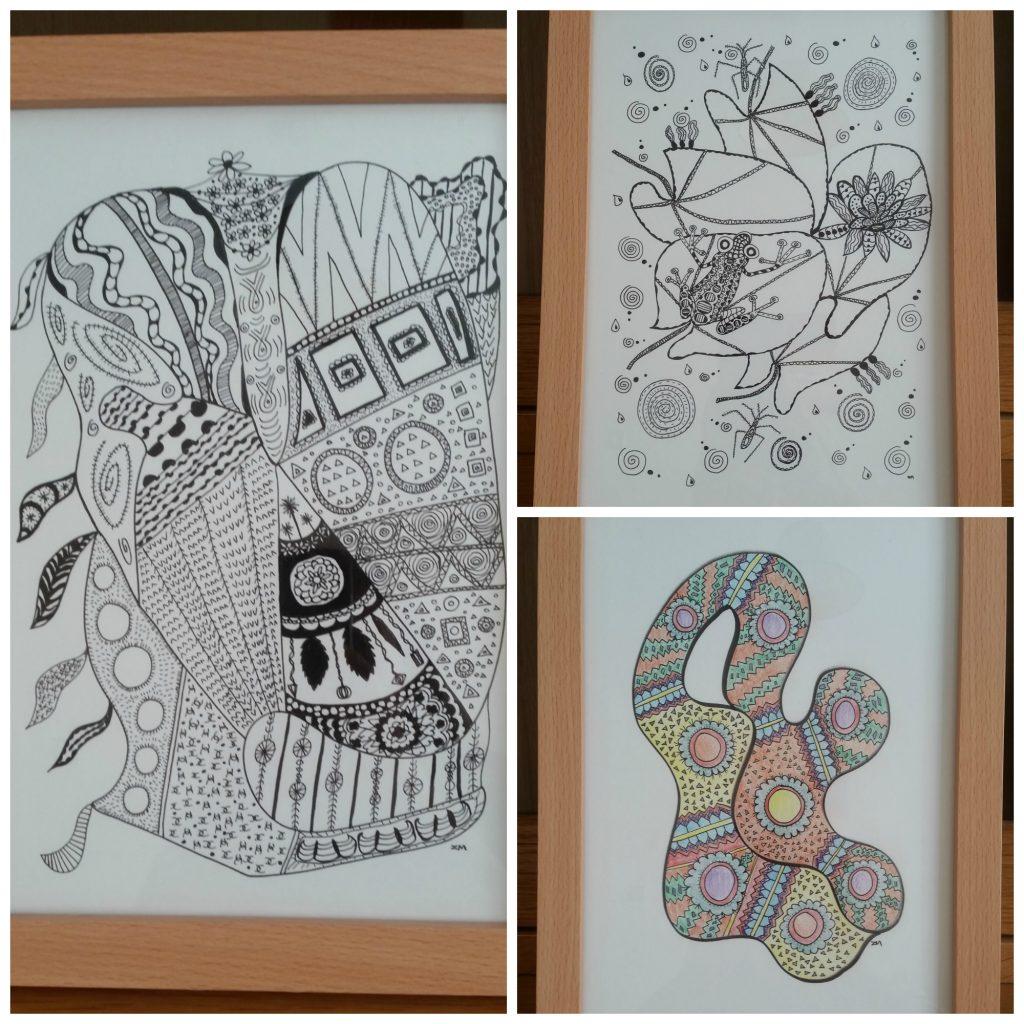 zendoodle, zenart, zen doodle, zen art, line drawing, zero waste, abstract art, abstract drawing