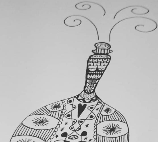 abstract art, fizzy bottle