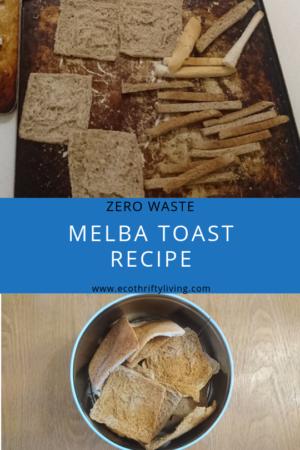 melba toast, melba toast recipe, zero waste melba toast, zero waste melba toast recipe