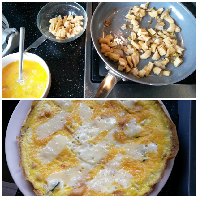 Frittata, cold cooked chips, reduce your food waste