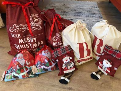 Santa sack, alternative to wrapping paper, eco, sustainable, Secret Santa,  eco-friendly budget Christmas