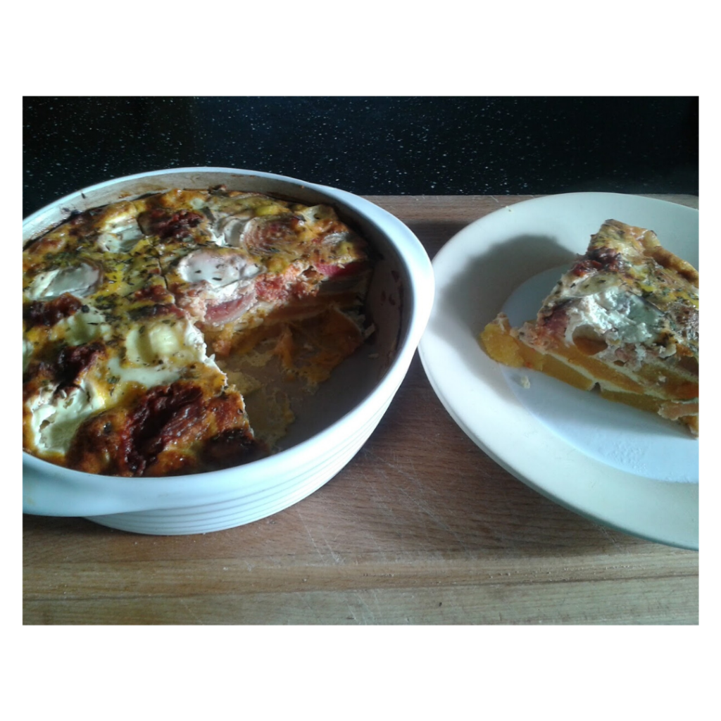 beetroot and butternut frittata, recipe, zero waste recipe, reduce food waste, vegetarian recipe