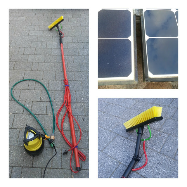 Cleaning your solar panels may make them more efficient. Here is a DIY solution to building a cleaning kit avoiding pricey professional services